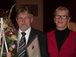 Pristagaren Bengt Pohjanen och fru Monika